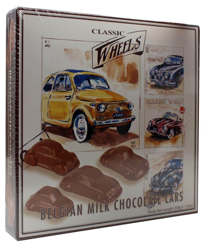Belgian Milk Chocolate Cars - Vollmilchschokol. mit Haselnuss 200g - Classic Wheels, Belgien