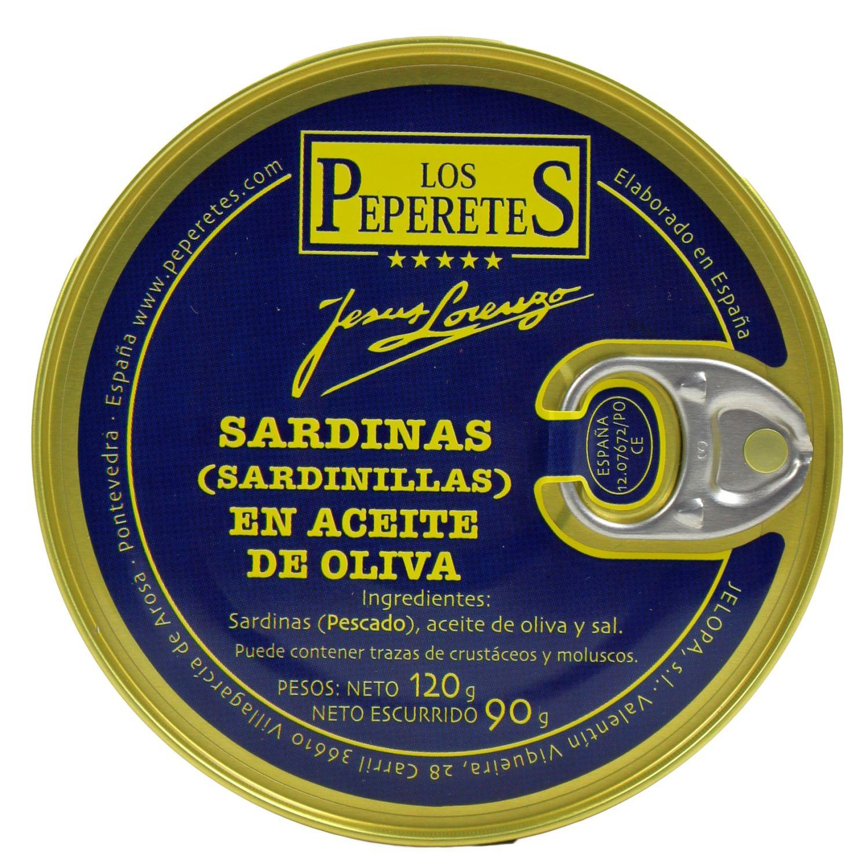 Sardinillas en Aceite de Oliva - kleine Sardinen in Öl 120g - Peperetes Jes·s Lorenzo, Spanien