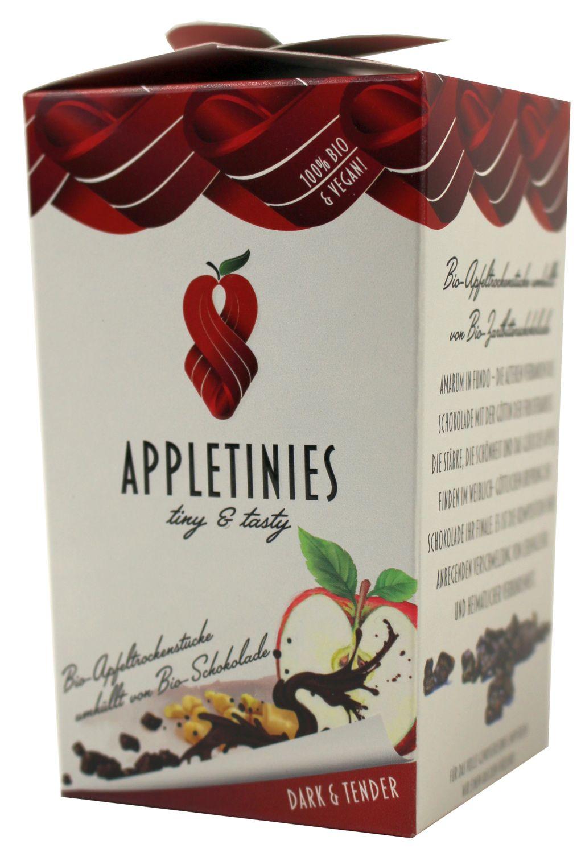 Appletinies Zartbitter - Zartbitterschokol. mit Apfelstücke 85g - 3fruits & friends, Österreich