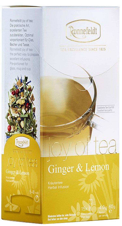 Ginger & Lemon Joy of Tea - Kräutertee in Teebeuteln - Ronnefeldt  15 x 4,0g