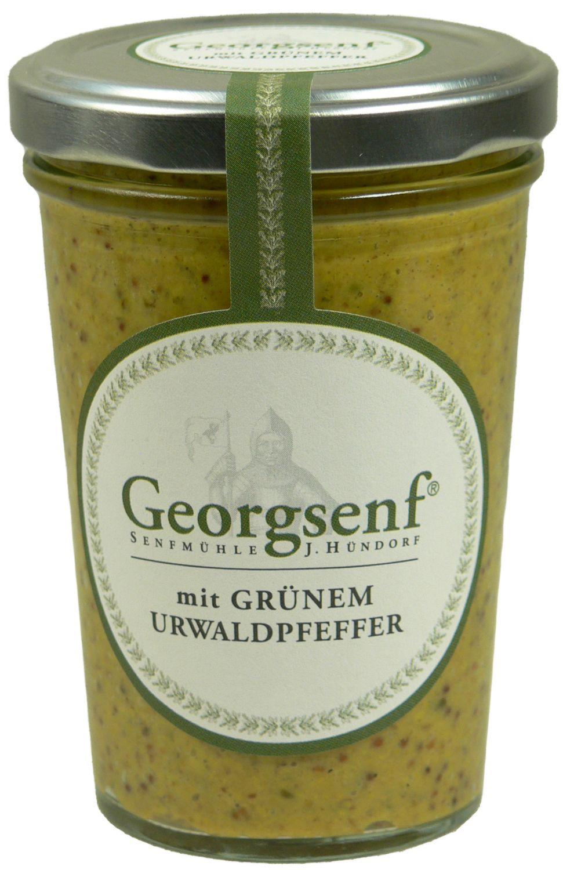 Georgsenf mit Urwaldpfeffer - biologische Herstellung 160g - Senfmühle Hündorf, Halle (Saale)