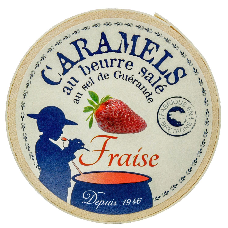 Caramels au Beurre sale Fraise - et au Sel de Guerande 50g - Paris Caramels, Frankreich