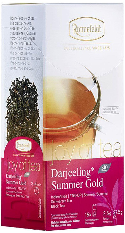 Darjeeling Summer Gold Joy of Tea - schwarzer Tee in Teebeuteln - Ronnefeldt 15 x 2,5g