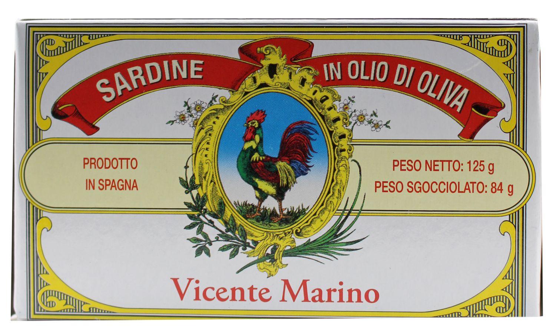 Sardinen in Olivenöl - 120 g Vicente Marino, Ligurien
