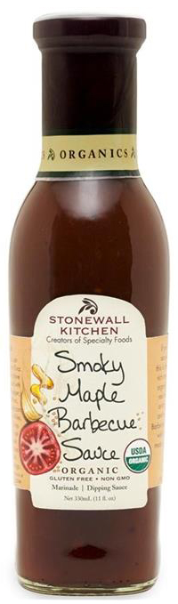 Organic Smokey Maple Barbecue Sauce - BBQ-Sauce 330ml - Stonewall Kitchen, USA