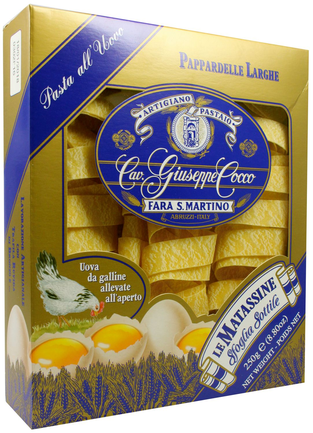 Pappardelle larghe - breite Eierbandnudeln 250 g - Guiseppe Cocco