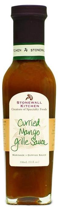 Curried Mango Grille Sauce - BBQ-Sauce 330ml - Stonewall Kitchen, USA