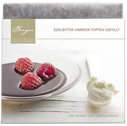 Himbeer Topfen Schokoladentafel - Edelbitterschokolade gefüllt 100g - Confiserie Berger