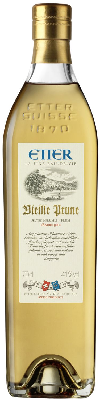 "Vieille Prune ""Barrique"" - Etter Schweiz - 41% Vol.  0,70 l"