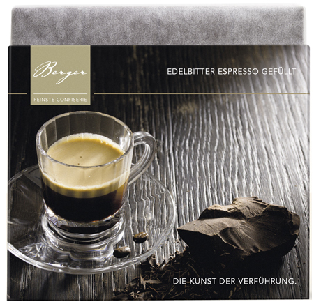 Espresso gefüllt - Edelbitterschokolade 100g - Confiserie Berger