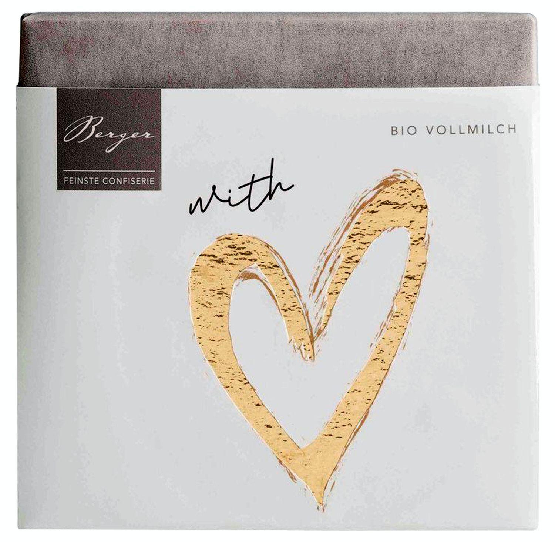 Schokoladentafel With Love - Vollmilchschokolade 70g - Confiserie Berger