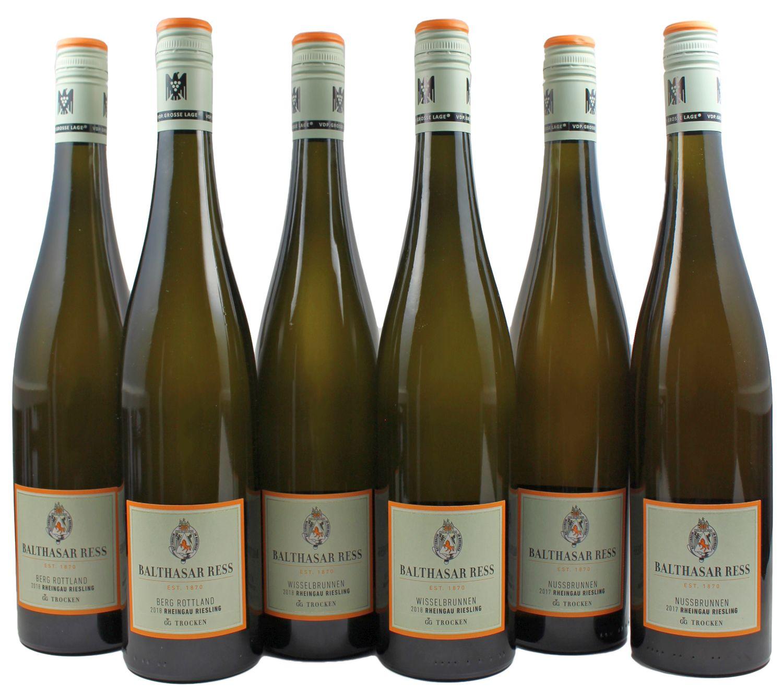 Kollektion Grosse Gewächse - Weingut Balthasar Ress / Rheingau - 6 Flaschen 0,75 l in Holzkiste