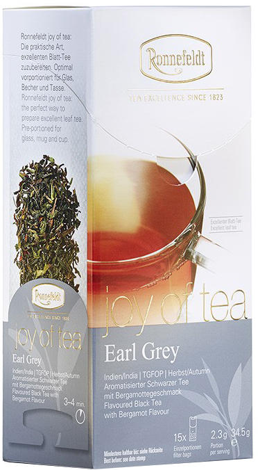 Earl Grey Joy of Tea - schwarzer Tee in Teebeuteln - Ronnefeldt  15 x 2,3g