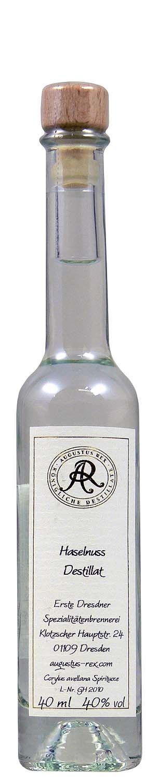 Haselnuss Destillat - Augustus Rex 40% Vol.  0,04 l - Erste Dresdner Spezialitätenbr.