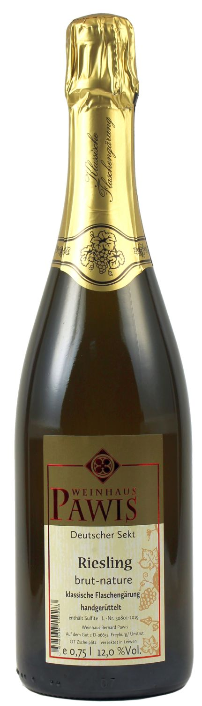 Riesling Sekt brut nature - Weingut Bernard Pawis 0,75l - klassische Flaschengärung