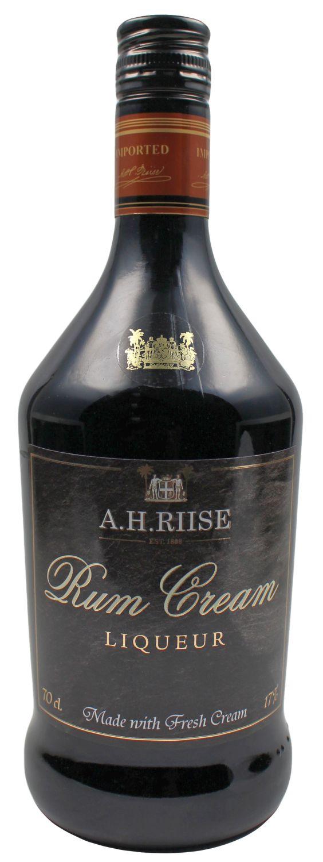 A.H. Riise Rum Cream - Sahne Likör - 17% Vol.  0,70 l