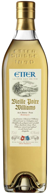 Vieille Williams Barrique - Etter Schweiz - 40% Vol.  0,70 l