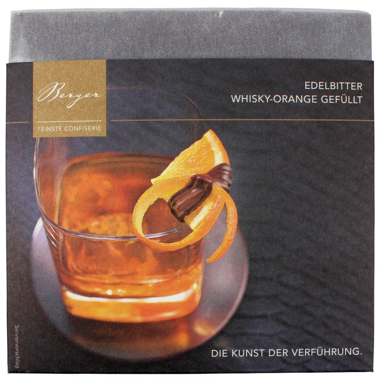 Schokolade Whiskey Orange - Zartbitterschokolade 100g - Kakaoanteil 70%, Confiserie Berger