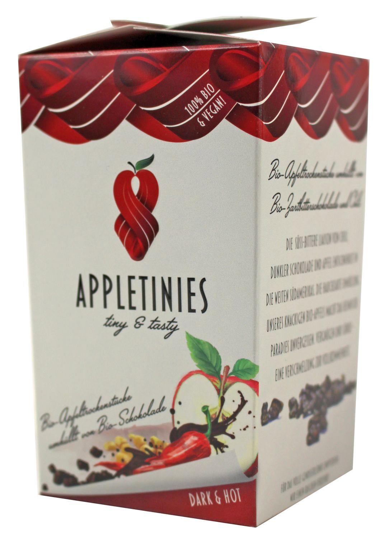 Appletinies Zartbitter / Chili - Zartbitterschokol. mit Chili 85g - 3fruits & friends, Österreich