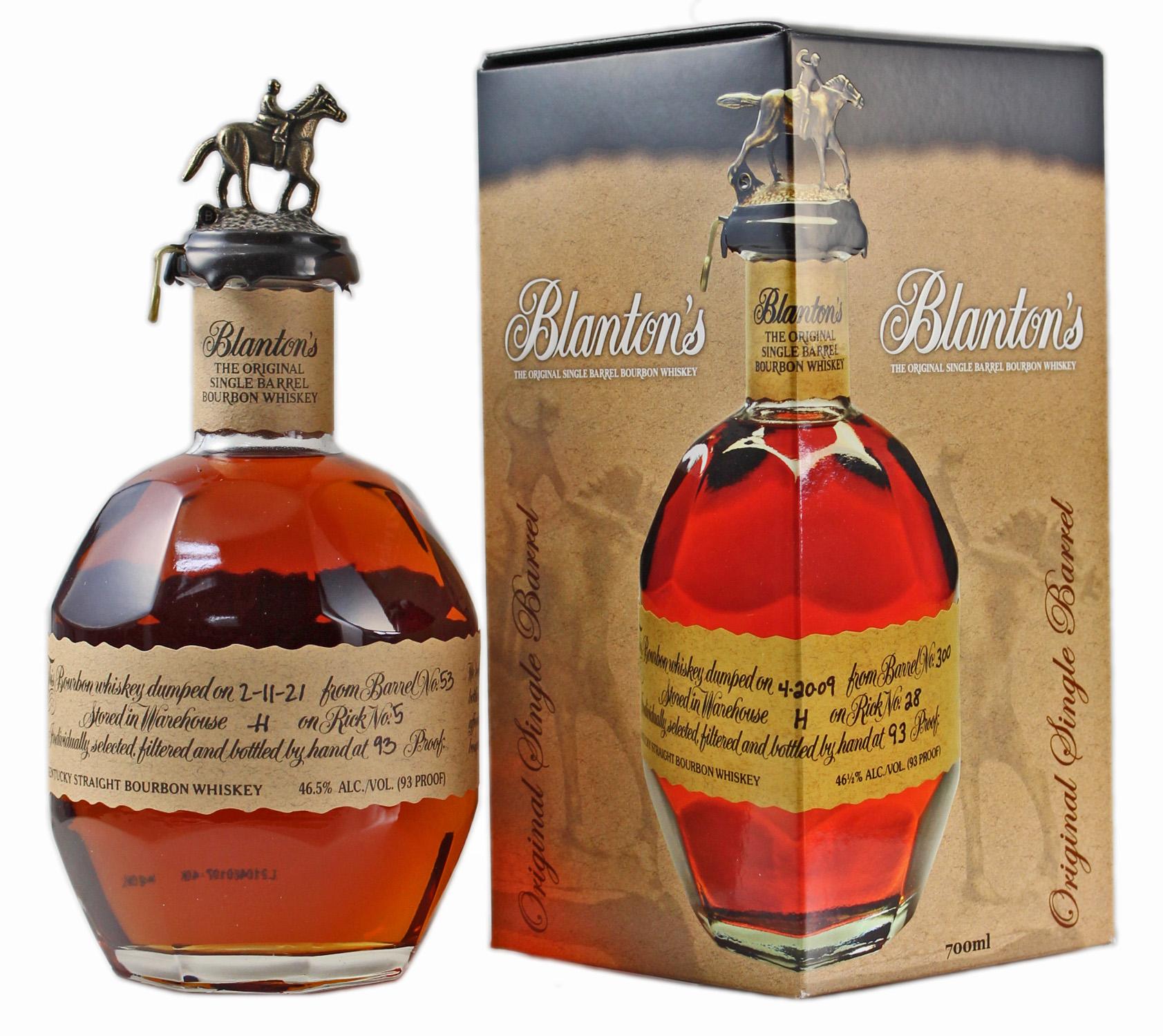 Blantons The Original - Kentucky Straight Bourbon Whiskey - Single Barrel - 46,5% Vol.  0,70 l
