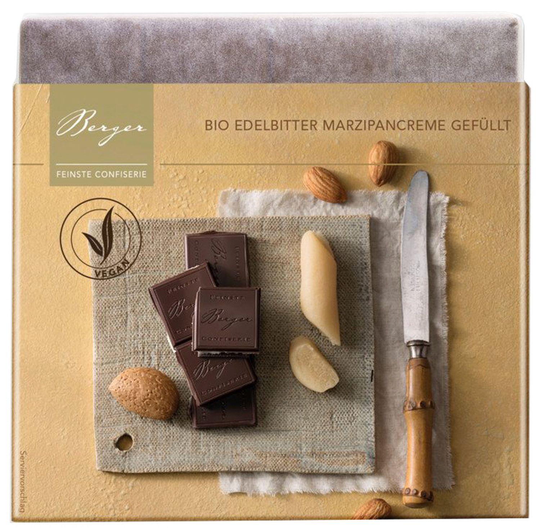 Marzipancreme gefüllt - Edelbitterschokolade 100g - Confiserie Berger