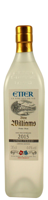 Williams Birne unfiltered - Etter Schweiz - 44% Vol.  0,35 l