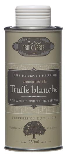 Traubenkernöl mit weißem Trüffel - Huilerie Croix Verte 250ml - Saumur, Loire