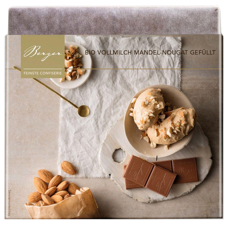 Mandel Nougat gefüllt - Vollmilchschokolade 100g - Confiserie Berger