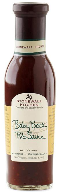 Baby Back Rib Sauce - BBQ-Sauce 330ml - Stonewall Kitchen, USA