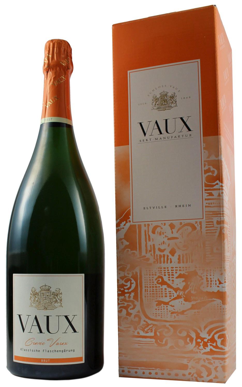 Cuvee Vaux Brut - Klassische Flaschengärung 1,50 l - Schloss Vaux Sekt Manufaktur, Eltville