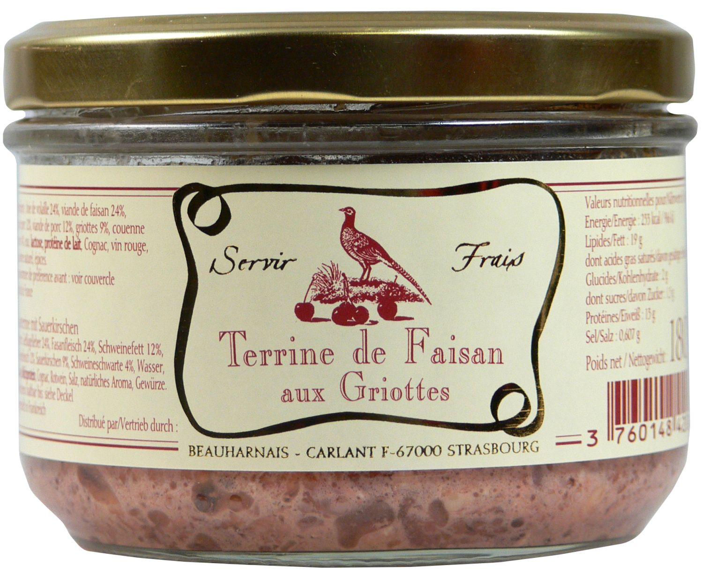 Fasanterrine mit Sauerkirschen - Servir Frais, Beauharnais 180g