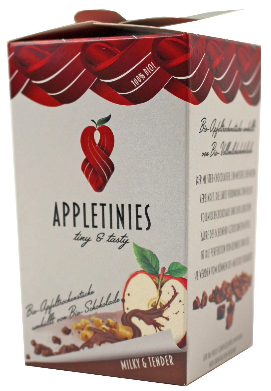 Appletinies Vollmilch - Vollmilchschokol. mit Apfelstücke 85g - 3fruits & friends, Österreich