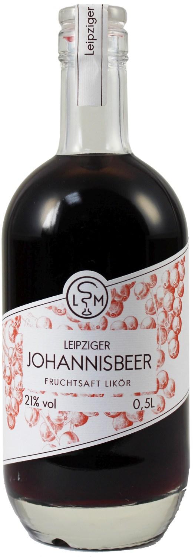 Johannisbeerlikör - 21% Vol.  0,50 l - Leipziger Spirituosen Manufaktur