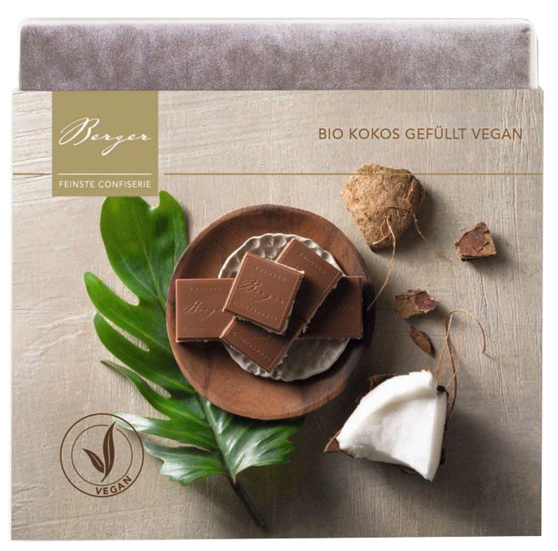Kokos gefüllt - Vollmilchschokolade 100g - Confiserie Berger