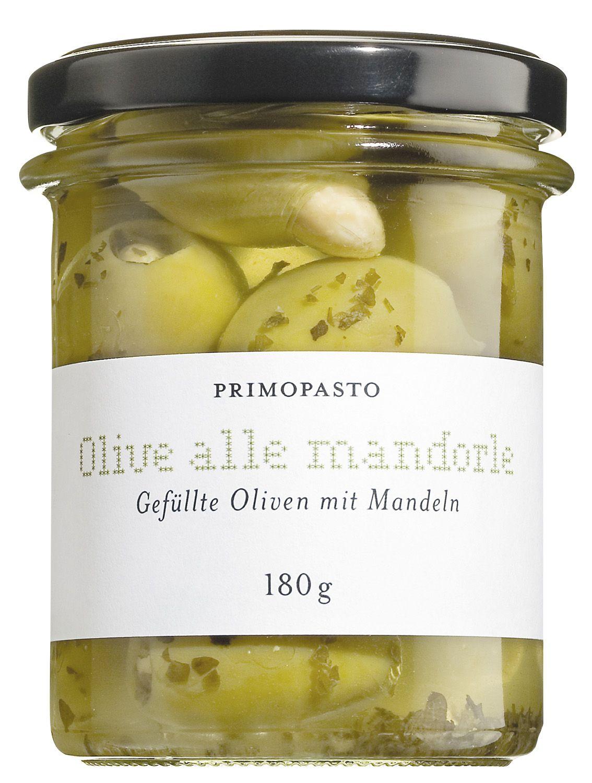 Oliven mit Mandeln gefüllt in Öl - Primopasto 180g