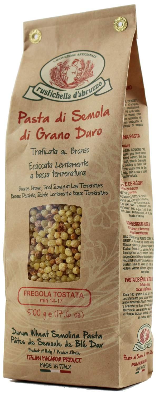 Fregola Sarda Tostata - Hartweizengrießnudeln 500 g - Rustichella, Abruzzen