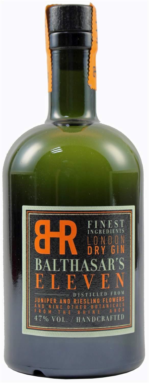 Balthasars Eleven - London Dry Gin  47% Vol.  0,50 l - Balthasar Ress/Hubertus Vallendar