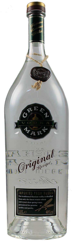 Green Mark Wheat Vodka - 40% Vol.  1,00 l - Russland