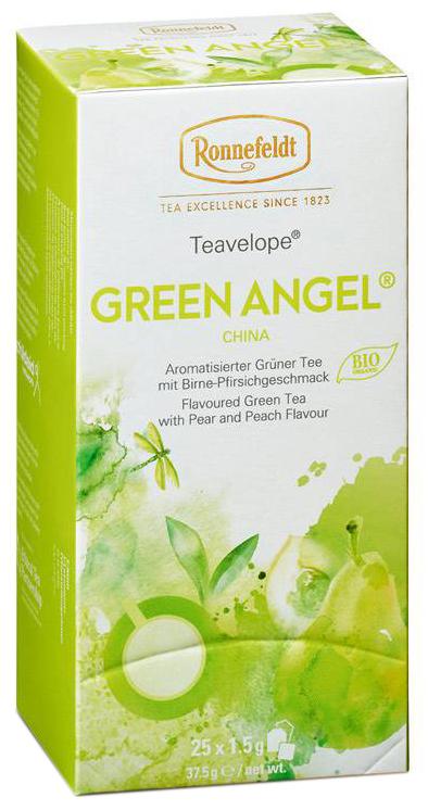 Green Angel Teavelope Bio - grüner Tee in Teebeuteln - Ronnefeldt  25 x 1,5g