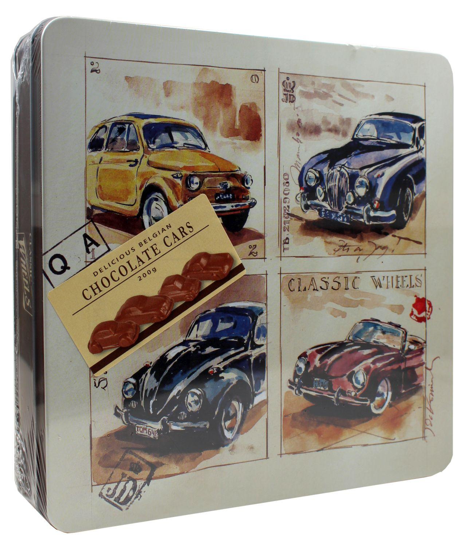 Belgian Milk Chocolate Cars - Geschenkdose 200g - Classic Wheels, Belgien