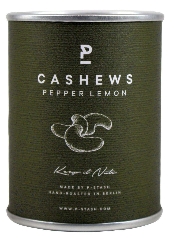 Cashew Pepper Lemon - Cashew mit Pfeffer und Zitrone 60g - P-STASH, Berlin