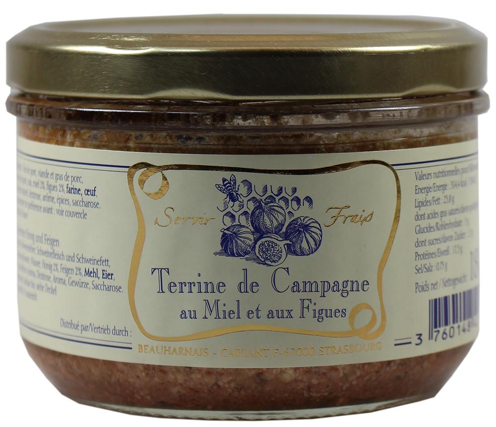 Landterrine mit Honig und Feigen - Servir Frais, Beauharnais 180g